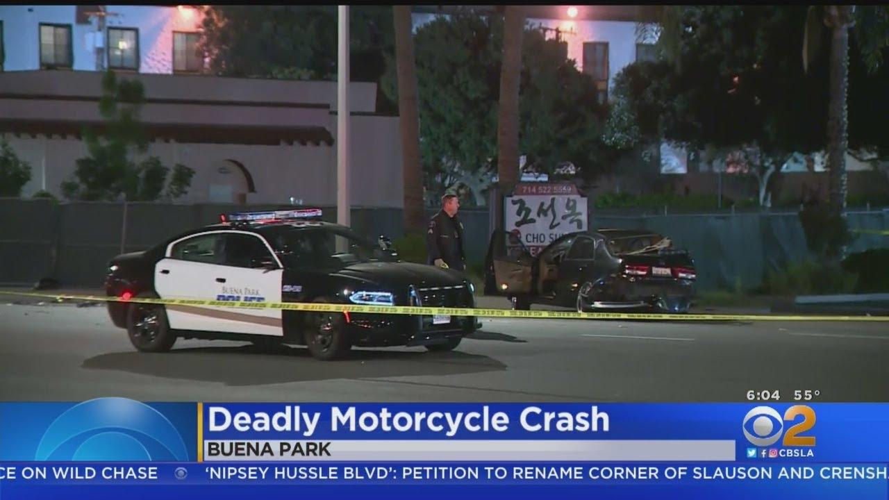 Motorcyclist Killed In Buena Park Crash - YouTube