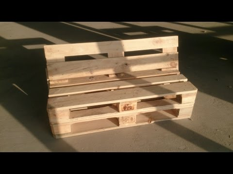Как из поддонов сделать скамейку