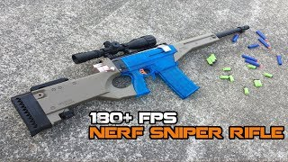 POWERFUL NERF Bolt-action Sniper Rifle! || WORKER Prophecy AWP Mod Install & Review