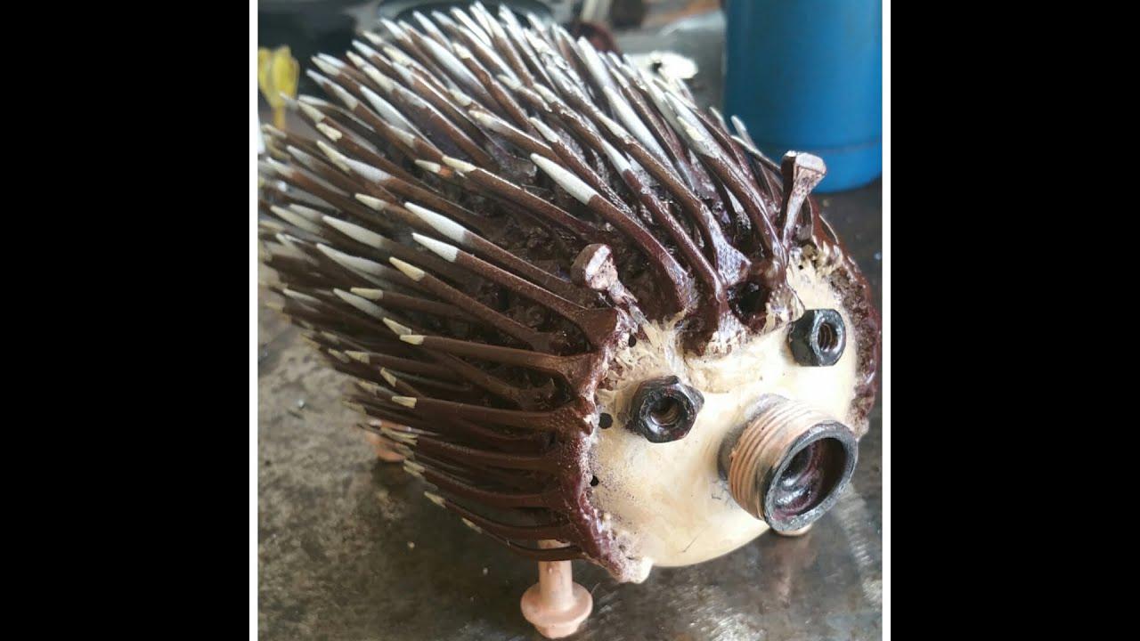Welding project hedgehog youtube - Simple metal art projects ...