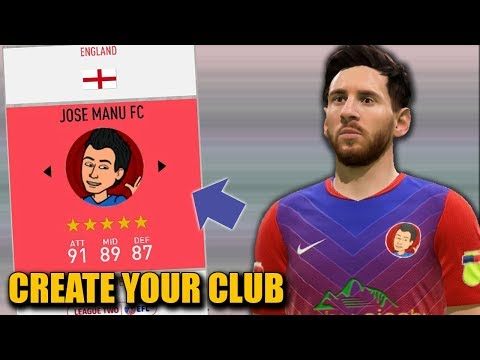 CREATING MY OWN CLUB IN FIFA 20 Career Mode - CREATE A CLUB