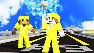 50 vs 2 POWER OF THE GODS! THOR ULTIMATE GUN WAR IN MINECRAFT!