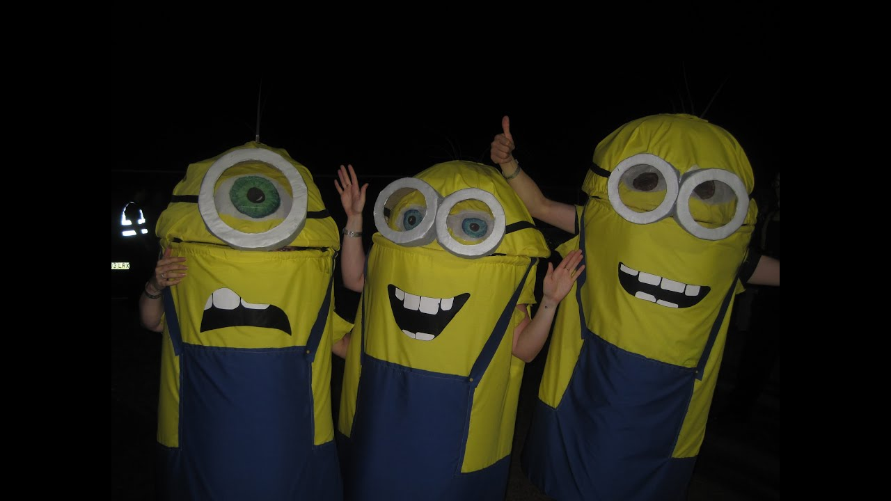 How do you make a Minion Costume for children? Halloween fancy dress costume - Despicable Me movie - YouTube & How do you make a Minion Costume for children? Halloween fancy dress ...