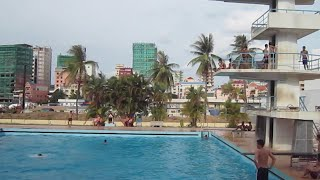 Swimming pool at Olympic Stadium in Phnom Penh city