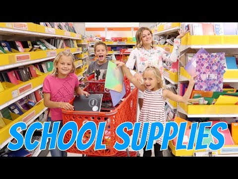School Supplies for FOUR KIDS | THE LEROYS