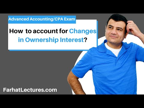 changes in ownership interest advanced accounting CPA exam, chap 8 p 1