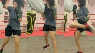 Ritika Singh Real Boxing Practice | Ritika Singh Real international Boxing Match | Filmylooks