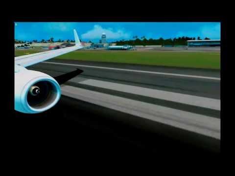 Caribbean Airlines/Air Jamaica 737 St Maarten(SXM/TNCM) Take off {FSX} PMDG737NGX
