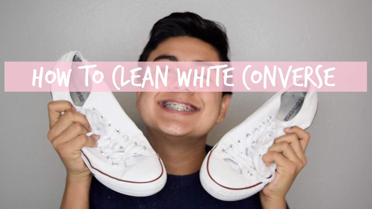 Impuestos Anunciante Repetirse  How to Clean White Converse Shoes - Best Ways, Tools and Tips