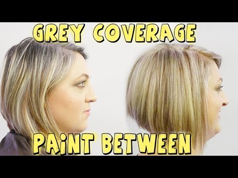 GREY COVERAGE PAINT BETWEEN TO BLOND COLOR CORRECTION
