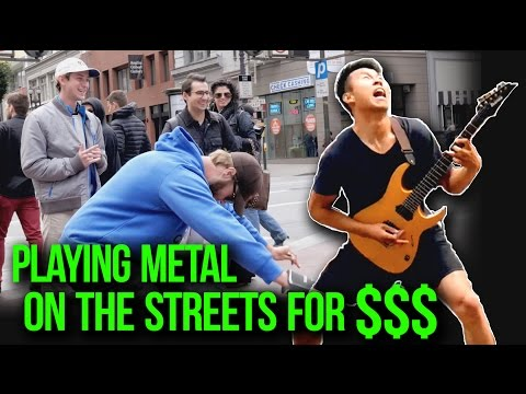 Playing Metal on The Streets For $$$ | w/ LIVE AUDIO | Street Metal
