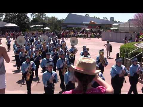 Wisconsin Dells High School Marching Band, Disney World (Epcot), 22MAR2016