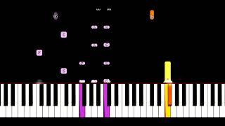 """Ун Моменто - Песня из Фильма """" Формула Любви"""" Урок на Фортепиано"""