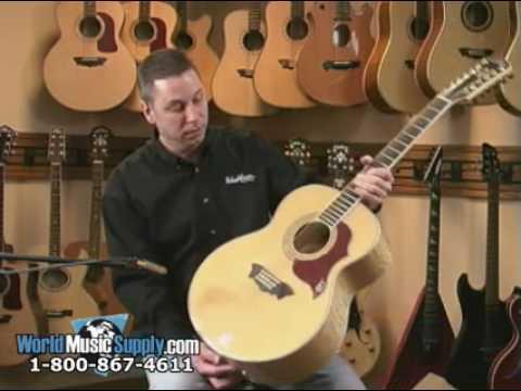 Washburn J28S12DL Jumbo 12 String Acoustic Guitar Demo