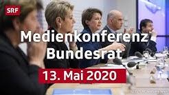 Medienkonferenz mit Bundesrätin Karin Keller-Sutter und Viola Amherd - 13. Mai 2020 | SRF News