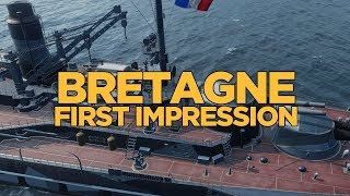 World of Warships - Bretagne First Impression