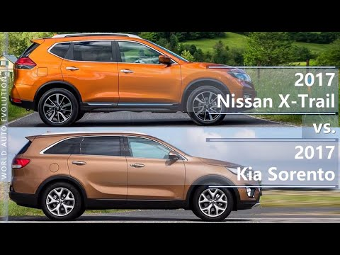 2017 Nissan X-Trail vs 2017 Kia Sorento (technical comparison)