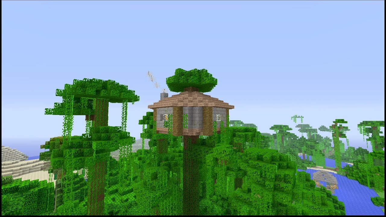 How To Build An Easy Jungle Survival House In Minecraft YouTube
