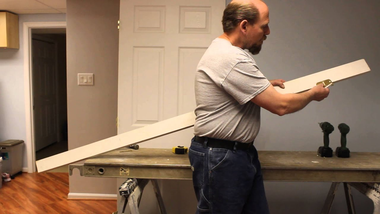 Part 1: Installing a Door Into an Existing Frame - YouTube