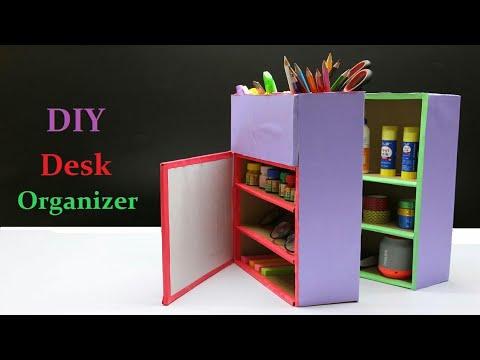 How to make DIY desk organizer..