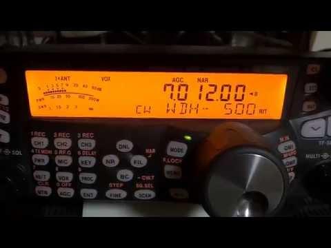 TS480(500Hz CW-F入り) と IC7100(DSP 500Hz)での受信音