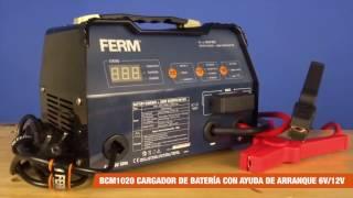 FERM Cargador de baterías con ayuda de arranque - 6V/12V - 12A | BCM1020