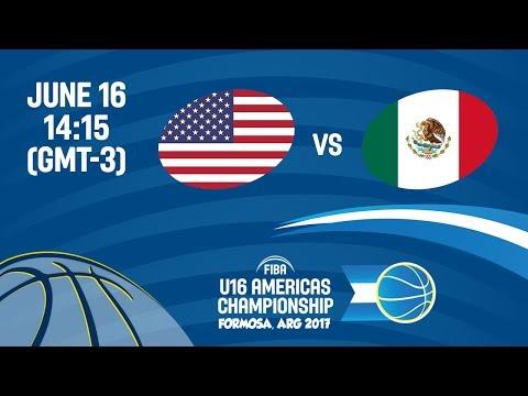USA vs Mexico - Group B - FIBA U16 Americas Championship 2017