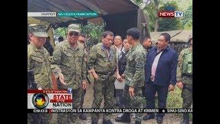 SONA: Pres. Duterte, bumisita sa kampo ng sundalo sa loob ng Marawi