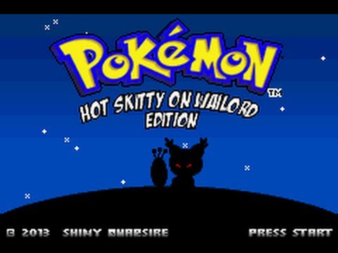 Custom Titlescreen on Fire Red (Hot Skitty on Wailord ... Wailord And Quagsire