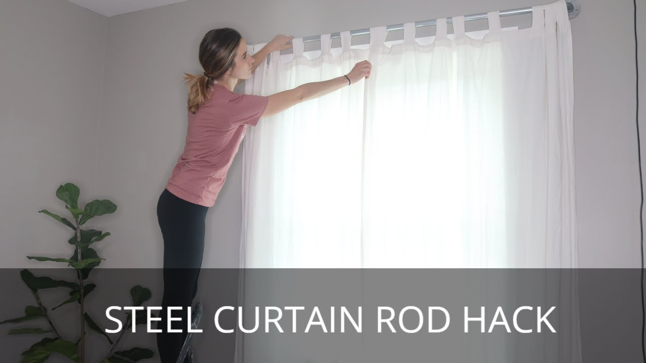 diy curtain rod steel pipe hack how to install a curtain rod curtain rod conduit