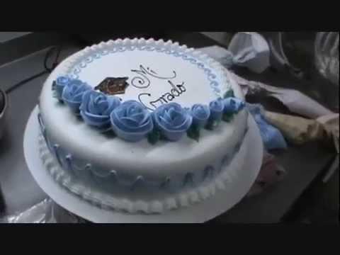 Torta para grado rosas azules youtube - Decoracion de tortas ...