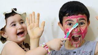 Celina color Hasouna face with spray - سيلينا تلون وجه حسونة