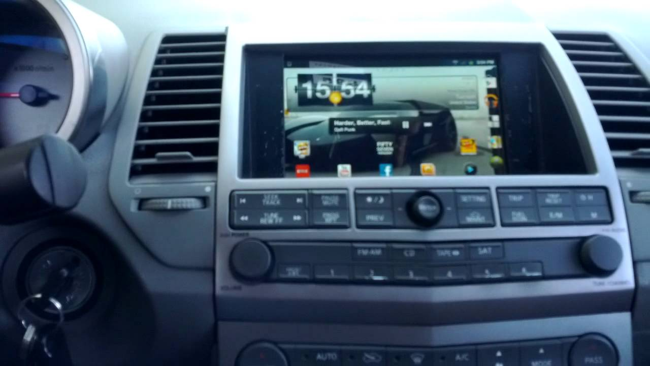 Custom Nissan Maxima >> Samsung Galaxy Tab in 04 Maxima - YouTube