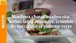Biggest Cooking Event - Moelleux au chocolat, sorbet lait d'amandes d'Yves Mattagne