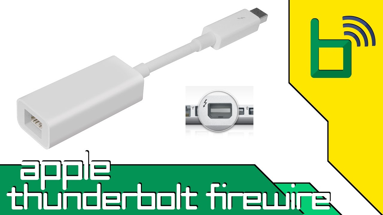 Unboxing Apple\'s Thunderbolt to Firewire Adapter - YouTube