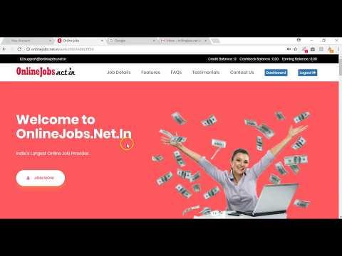 OnlineJobs.net.in Copy Paste Job Demo