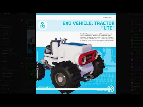 """Astroneer News: New Tractor Rover """"Tractor Ute"""", New Suits & More [CC] 
