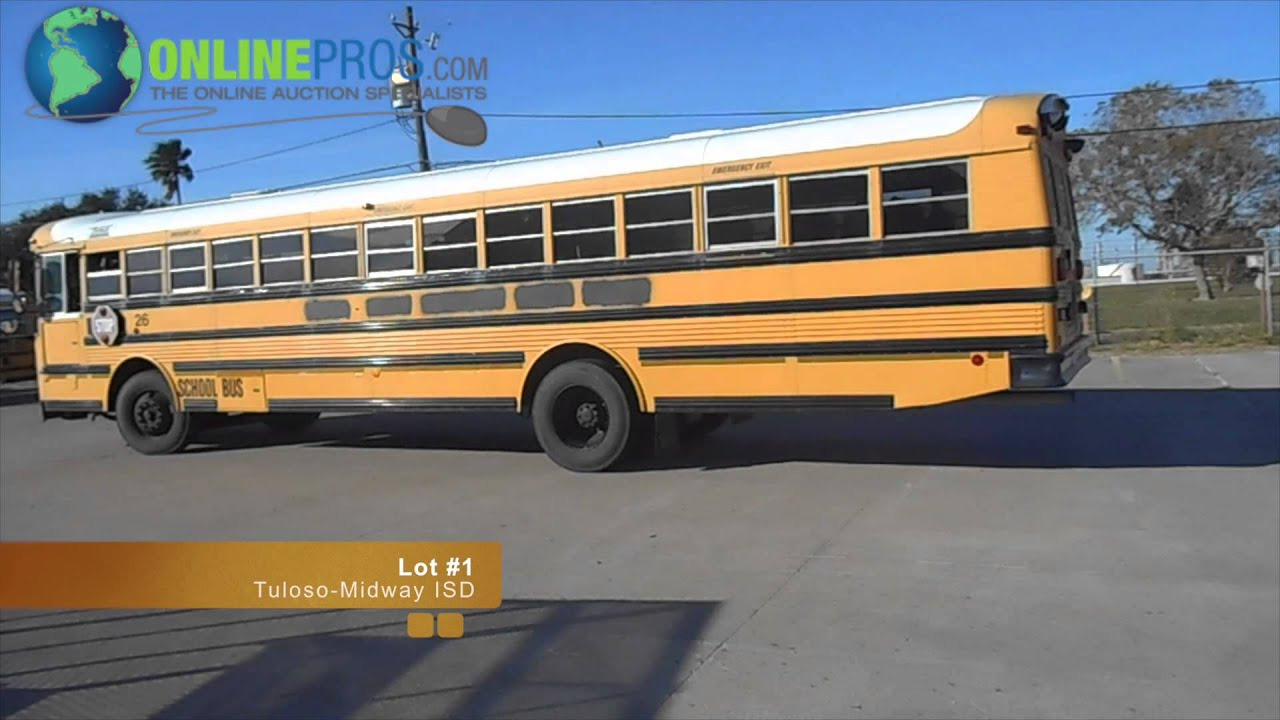 Tuloso Midway Corpus Christi Texas school bus Lot #1 For Sale
