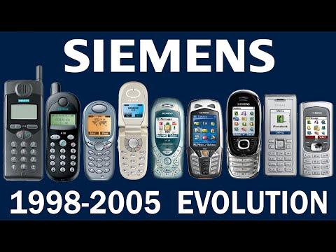 Siemens Phone Evolution 1998-2005