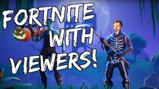 STREAMING FORTNITE WITH VIEWERS!! LET'S GET THESE WINS! (PROBABLY NOT)