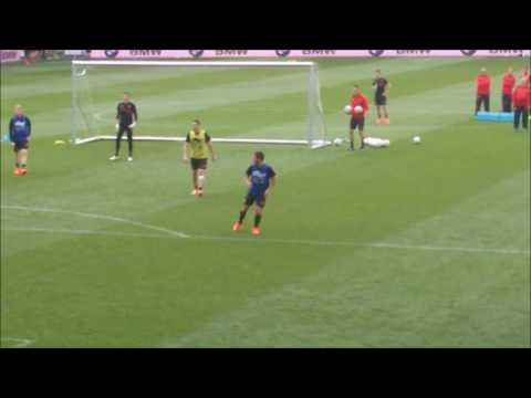 Eden Hazard's goal at training