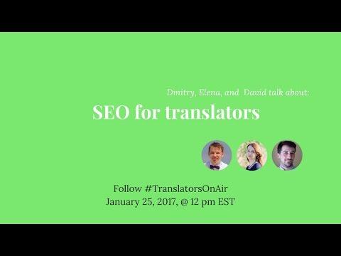 #TranslatorsOnAir: SEO for translators feat. @TrustYourBrand