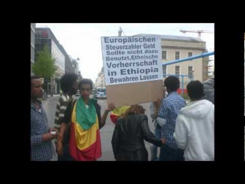 Ethiopians Demonstrating Against the Tyrant .TPLF. Government in Germany /Berlin /24/04/2012