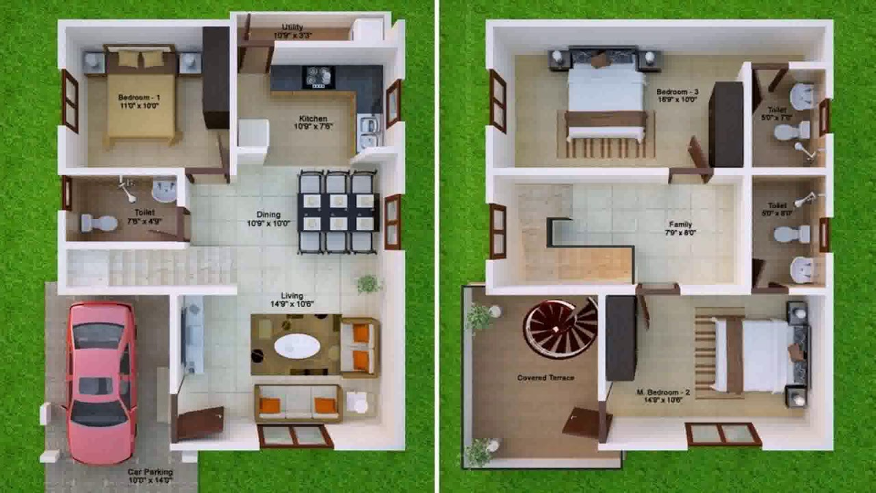 Duplex House Plans 900 Sq Ft Youtube