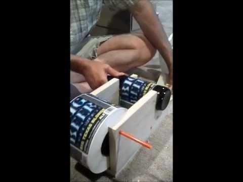 Diy craft beer bottle labeler for 14 youtube for Beer label machine