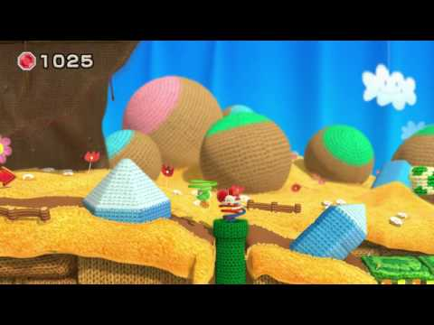 Yoshi's Woolly World Two-Player Playthrough - World 1 (Part 1)