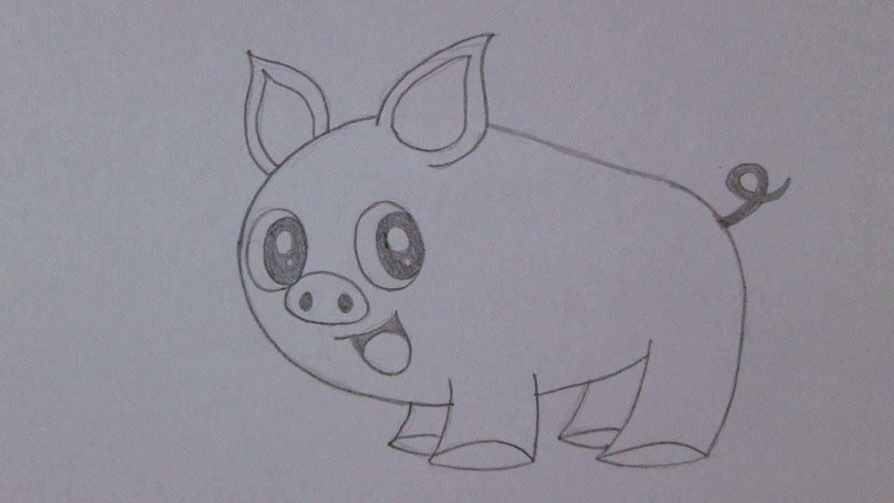 como desenhar um porco youtube
