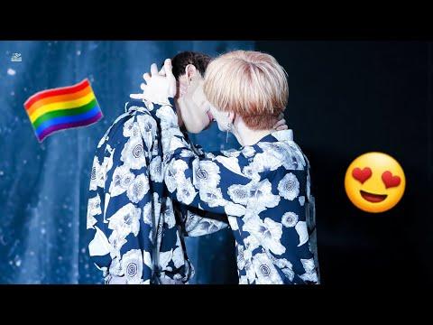 KPOP IDOLS GAY MOMENTS (BTS,MONSTA X,EXO,IKON,STRAY KIDS,KNK,14U, NCT AND MORE) #1