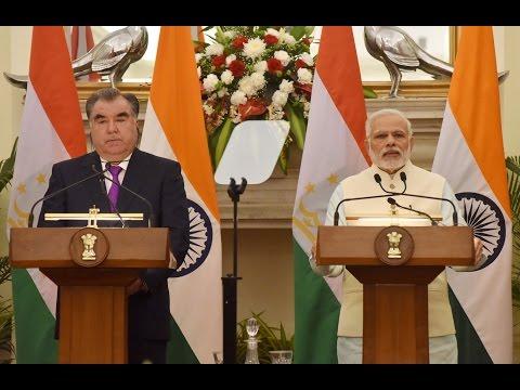 PM Narendra Modi at Joint Press Statement with President of Tajikistan Mr. Emomali Rahmon