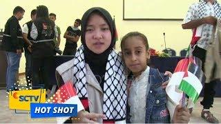 Hot Shot - Nissa Sabyan Menangis Ketika Menghibur Anak-Anak Palestina